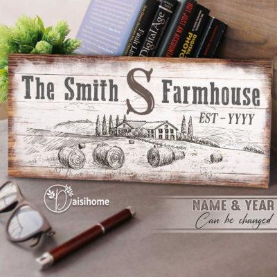 Farmhouse Decor Canvas Wall Art The Smith Farmhouse At Daisihome